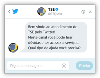 Chatbot do TSE no Twitter